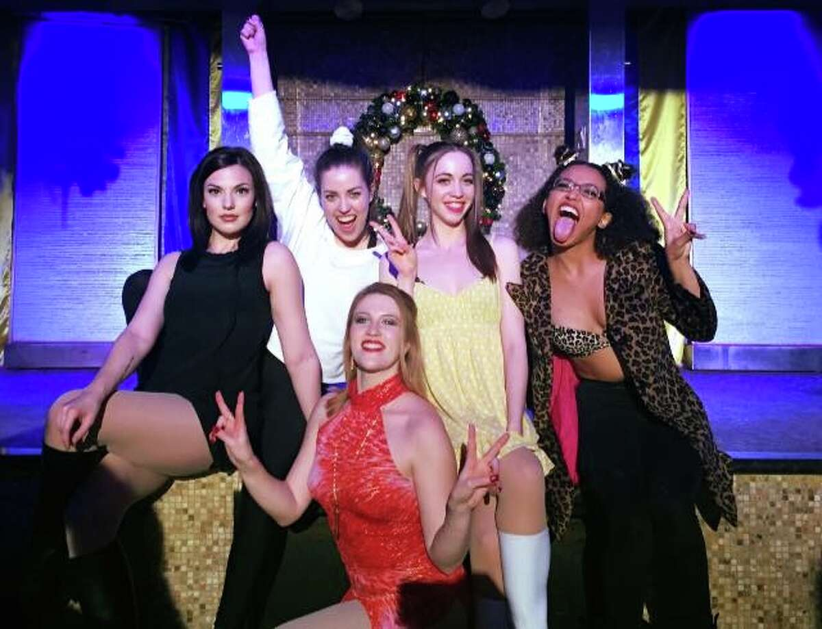 Clubgoers attending Spice Girls tribute night at Meteor Lounge in Montrose.
