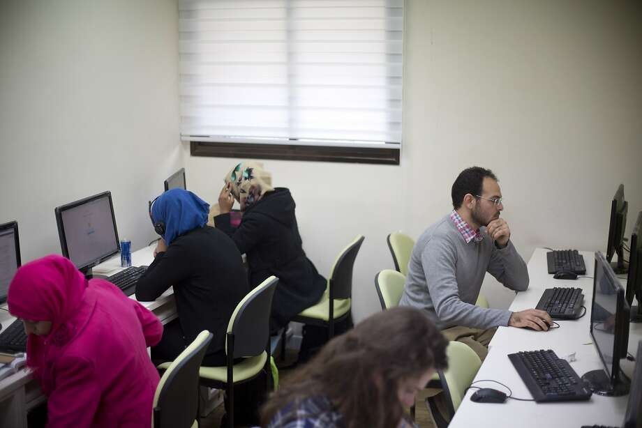 Avihay Marciano, 26, who now studies at a university in Beersheva, didn't know how to use a computer. Photo: Ariel Schalit, Associated Press
