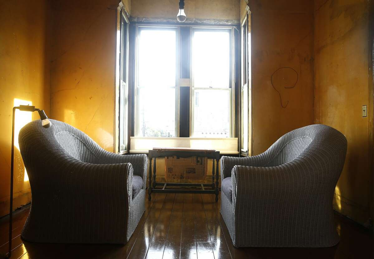 Furniture and artwork is displayed on the second floor of the David Ireland house at 500 Capp Street in San Francisco, Calif. on Tuesday, Dec. 22, 2015.
