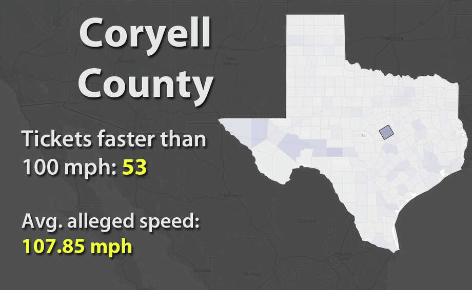 See the counties with the most speeding tickets with alleged speeds faster than 100 mph. Photo: Jessica Hamilton, Tableau