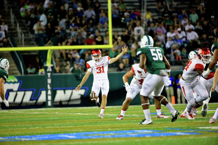 UH punter Logan Piper (31) will take part in the Texans' local prospect day Saturday. Photo: Courtesy Of University Of Housto