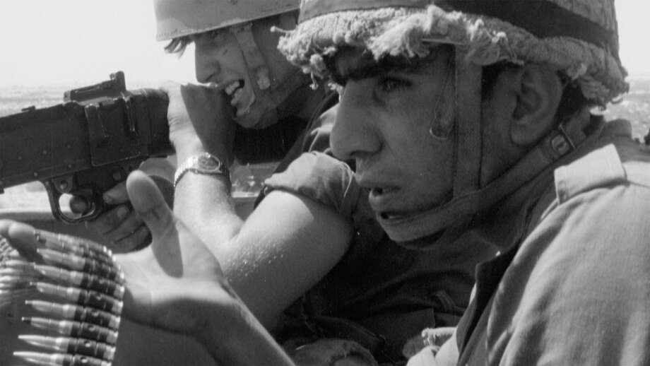 "Israeli soldiers fighting in the Six-Day War in archival footage in the documentary ""Censored Voices."" Photo: Music Box Films"