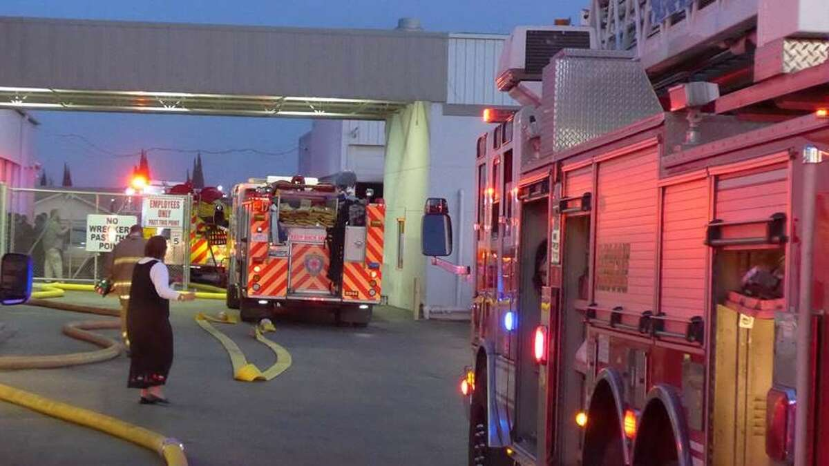 Firefighters responded to a fire at the North Star Dodge dealership Tuesday afternoon on the North Side.