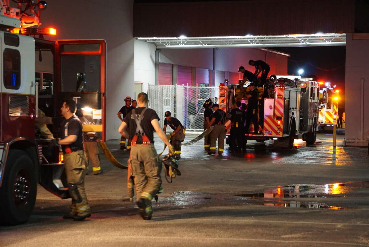 Firefighters responded to a fire at the North Star Dodge dealership Tuesday afternoon on the North Side. One person was injured.
