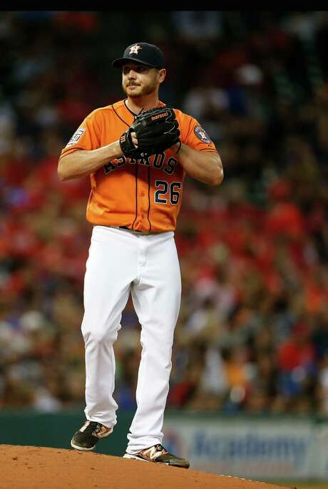 Scott Kazmir was a disappointment with the Astros, going 2-6 with a 4.17 ERA after being acquired from the Athletics in midseason. Photo: Karen Warren, Staff / © 2015 Houston Chronicle