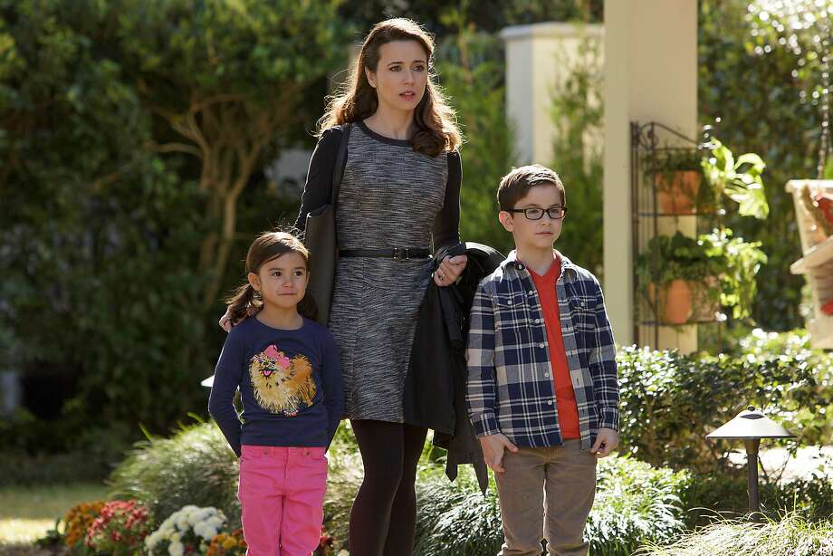 Scarlett Estevez (left) as Megan, Linda Cardellini as Sara and Owen Vaccaro as Dylan. Photo: Hilary Bronwyn Gayle, Associated Press