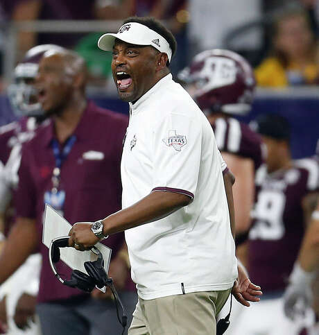 Kevin Sumlin's A&M record is a mixed bag of overall success but failure to compete with SEC West foes Alabama and LSU. Photo: Karen Warren, Staff / © 2015 Houston Chronicle