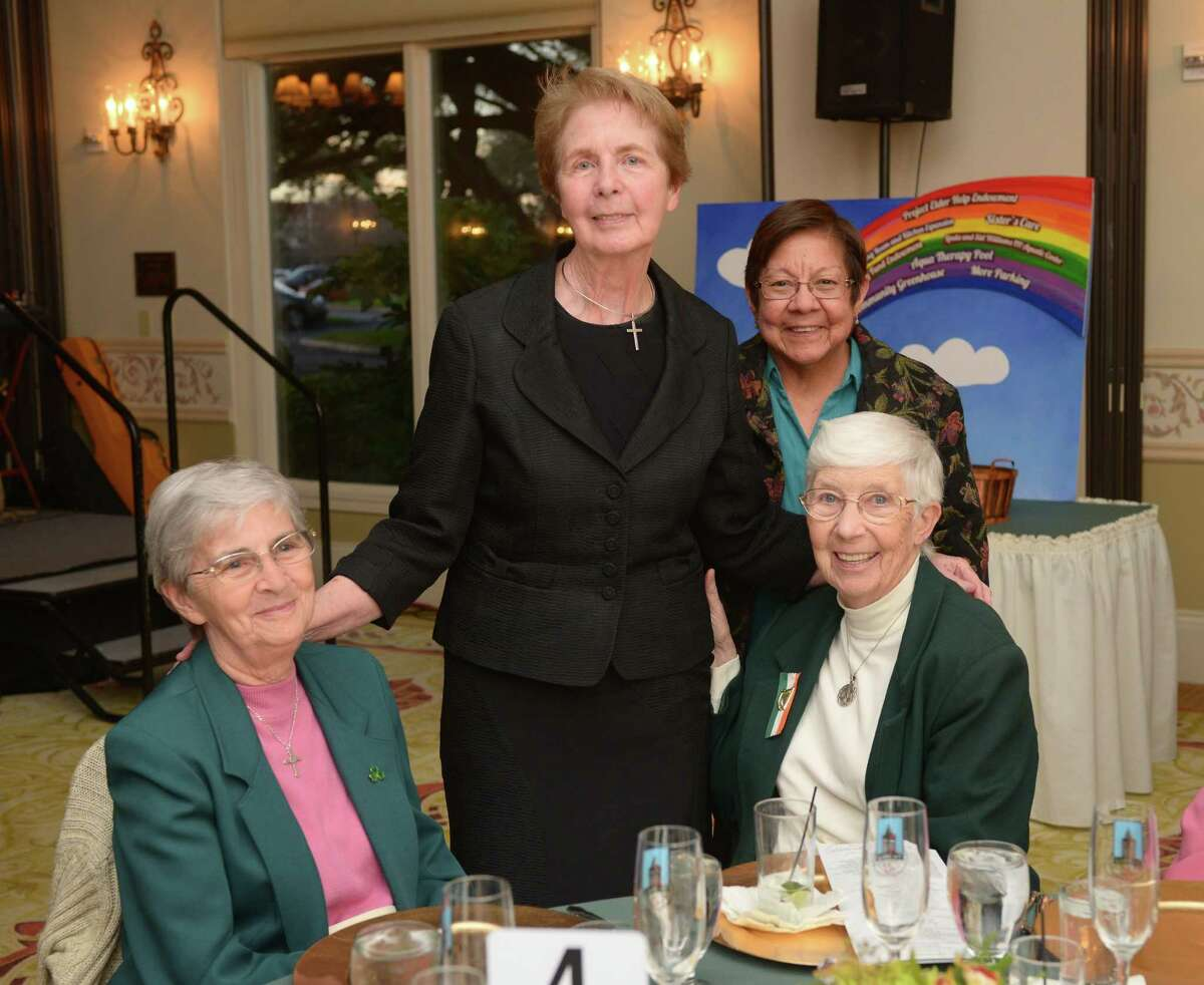 Sister Ann Geever, Sister Rosita Hyland, Sister Feliciana Mejia and Sister Corine Walsh at the Champagne & Shamrock Gala benefiting The Village at Incarnate Word at Oak Hills Country Club in April 2014.