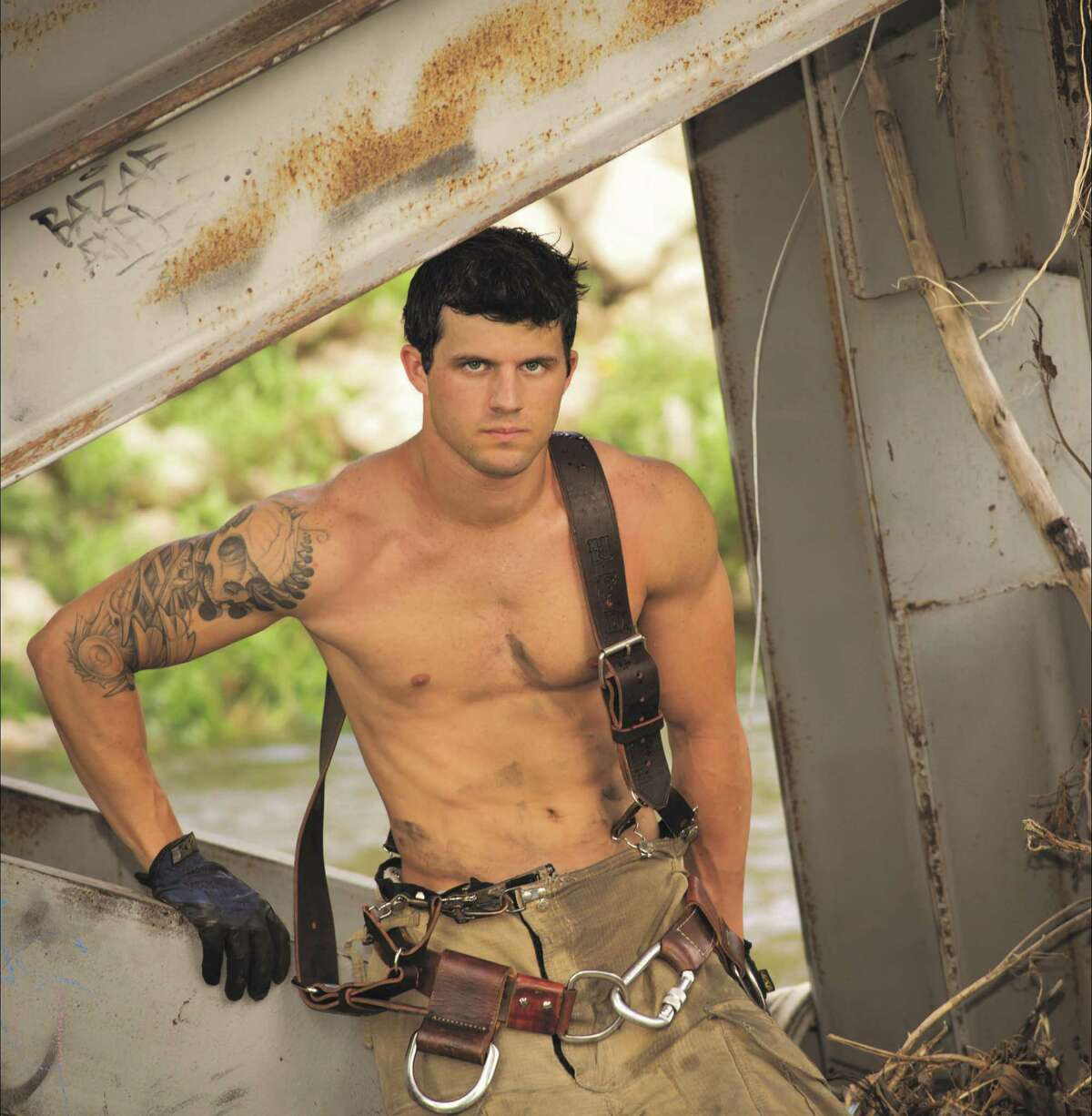 Aaron Gilbert of Porter is Mr. January in the 2016 Houston Fire Fighters Burned Children's Fund calendar. Gilbert attended New Caney High School.