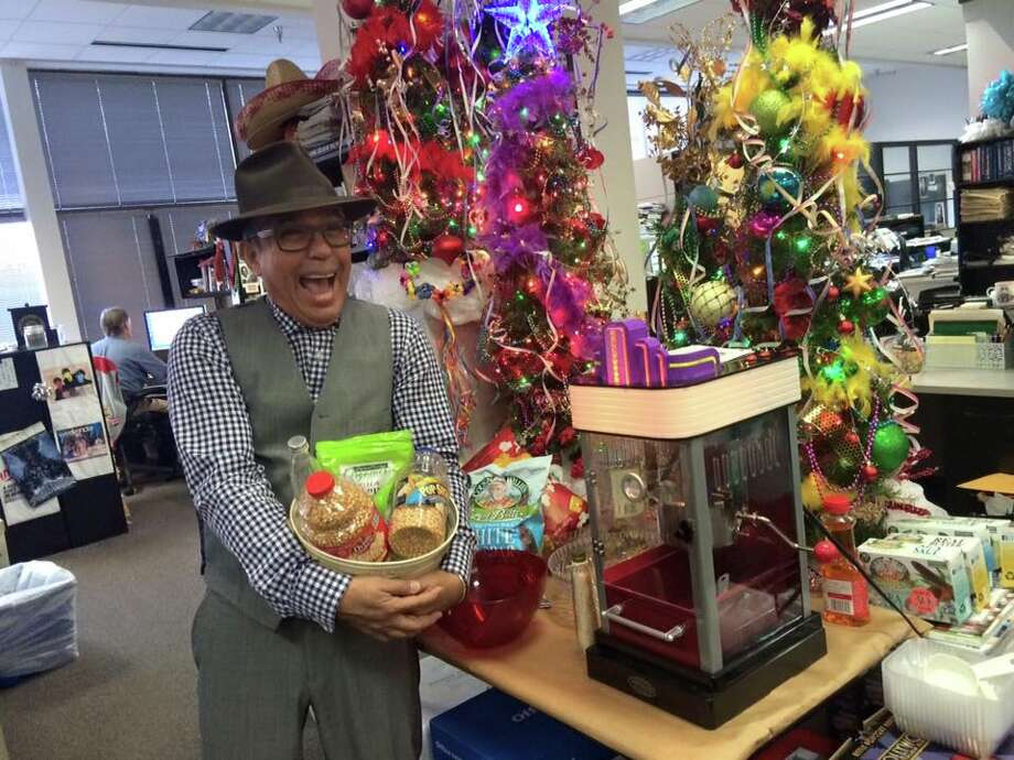 Michael Quintanilla is the ultimate master of snacks, going so far as to create a weeklong celebration of treats. Photo: Benjamin Oliva /San Antonio Express-News