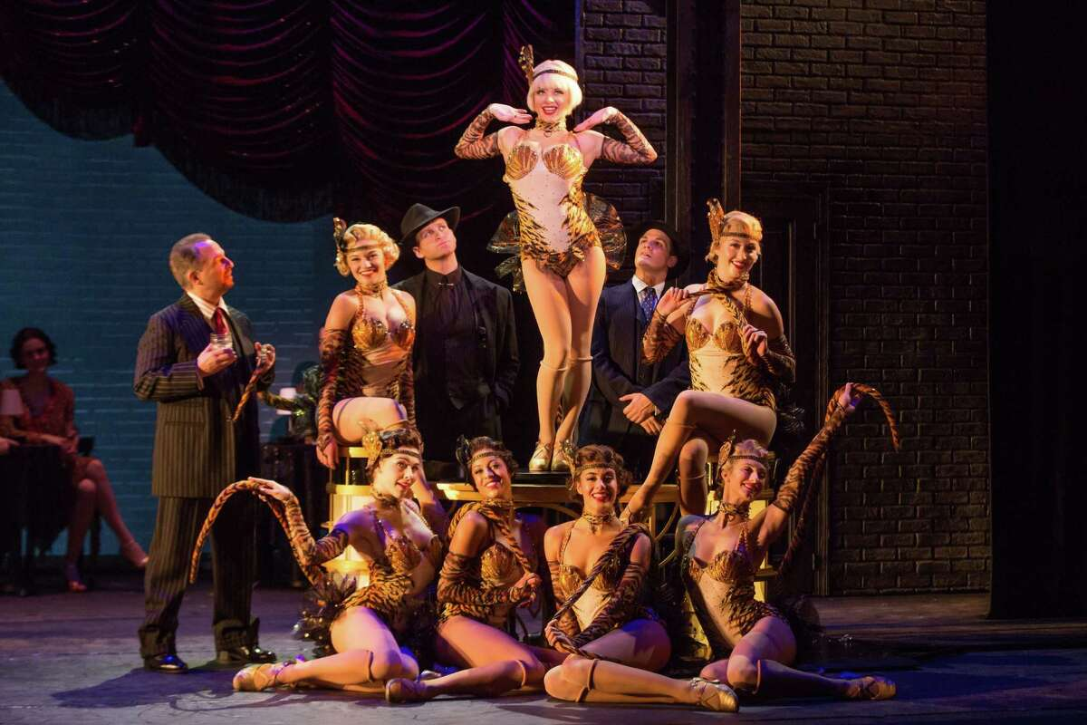 """Hold those tigers: Jemma Jane (top) stars as troublesome nightclub chorine Olive in the national tour of """"Bullets Over Broadway."""""""