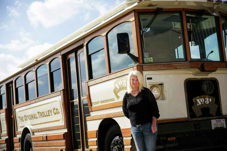 The Original Trolley Co's. operations manager, Annette Murray, has vehicles that can be rented for parties and weddings.  Photo: Michael Ciaglo, Staff / © 2015  Houston Chronicle