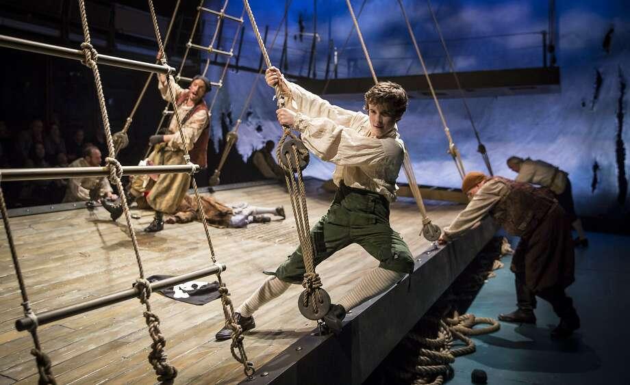"Jim Hawkins as John Babbo in ""Treasure Island,"" to be staged at Berkeley Rep from April 22-June 5, 2016. Photo: Liz Lauren"