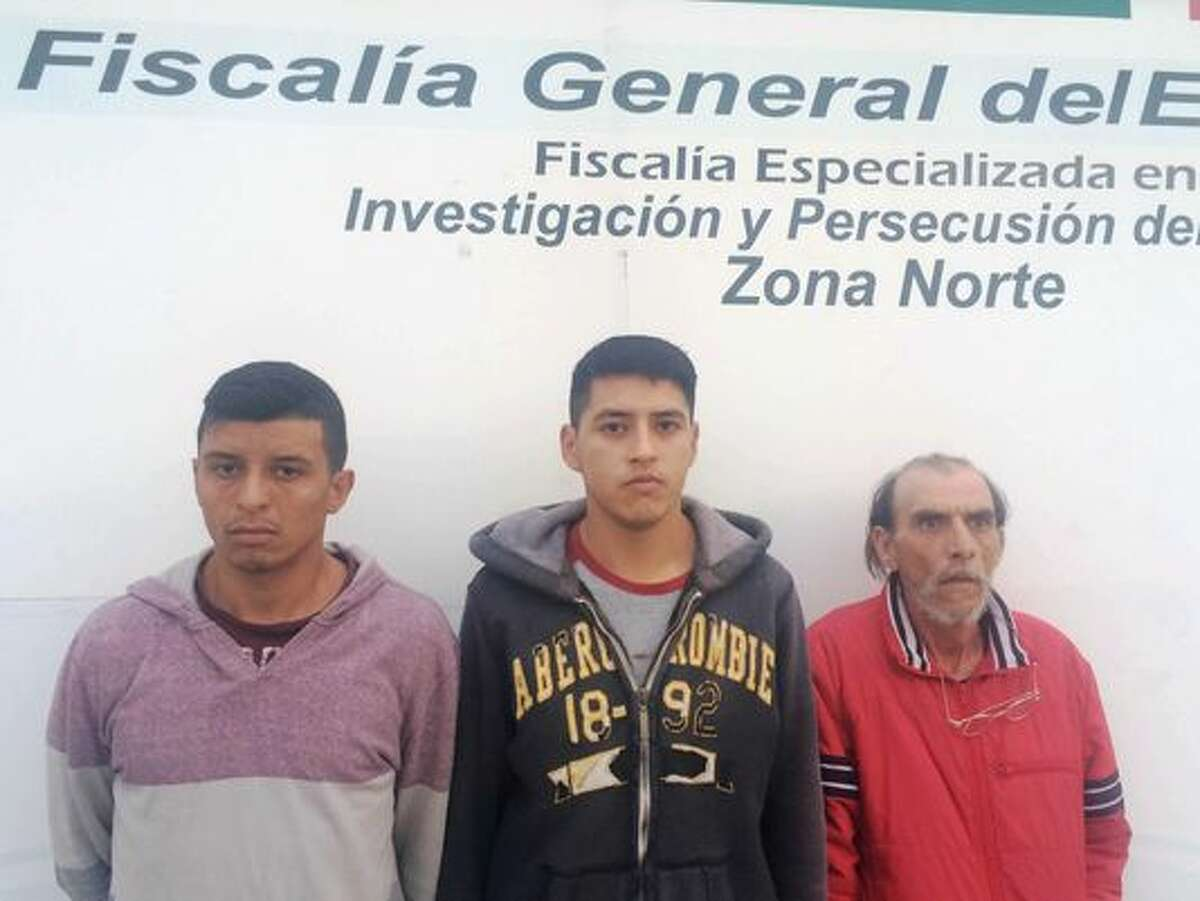Two of three men pictured here in 2015 were allegedly members of the Barrio Azteca gang. Younger and newer Barrio Azteca members are opportunistic and will work with other gangs and cartels, despite traditional gang rivalries or alliances, according to the  Texas Department of Public Safety.
