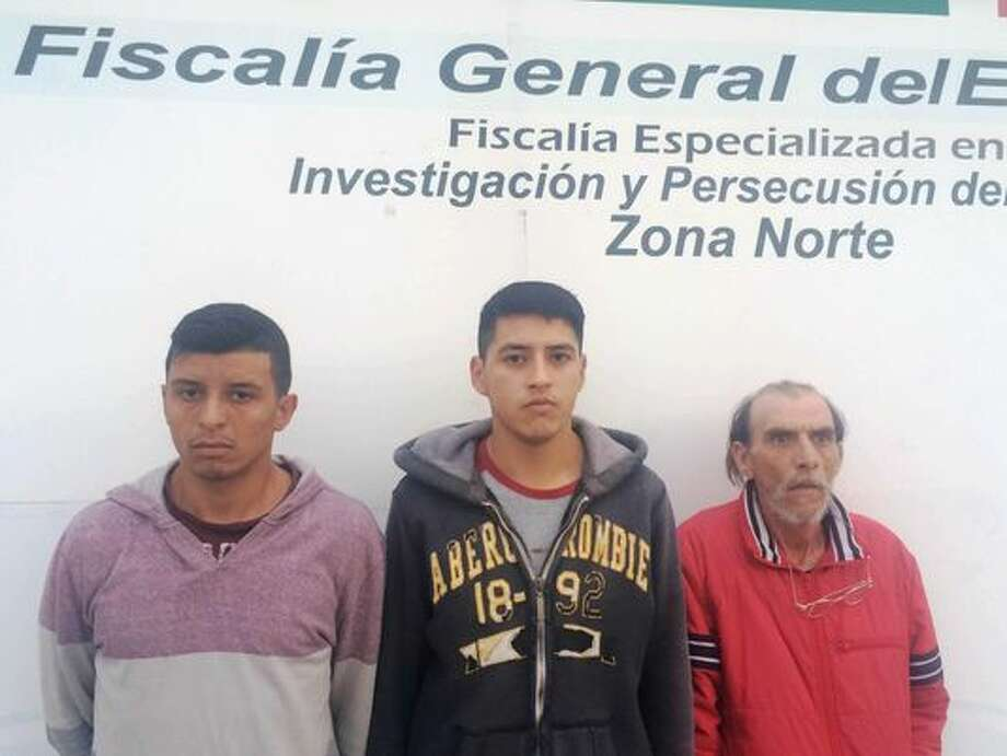 Mexican authorities have arrested three men, including two alleged members of the Barrio Azteca gang, accused of torturing and threatening to kill a 60-year-old woman for dealing better heroin than them. Photo: Chihuahua State Attorney General