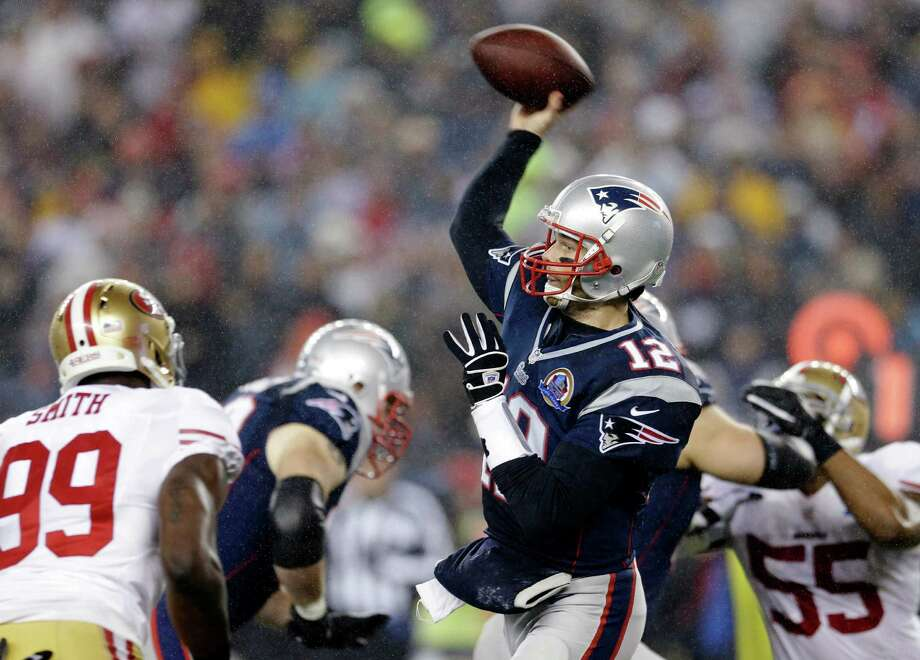 Patriots quarterback Tom Brady, a San Mateo native, is scheduled to play against the 49ers at Levi's Stadium in 2016. Brady has never played against the 49ers in the Bay Area in his 16-year career. Photo: Elise Amendola / Associated Press / AP