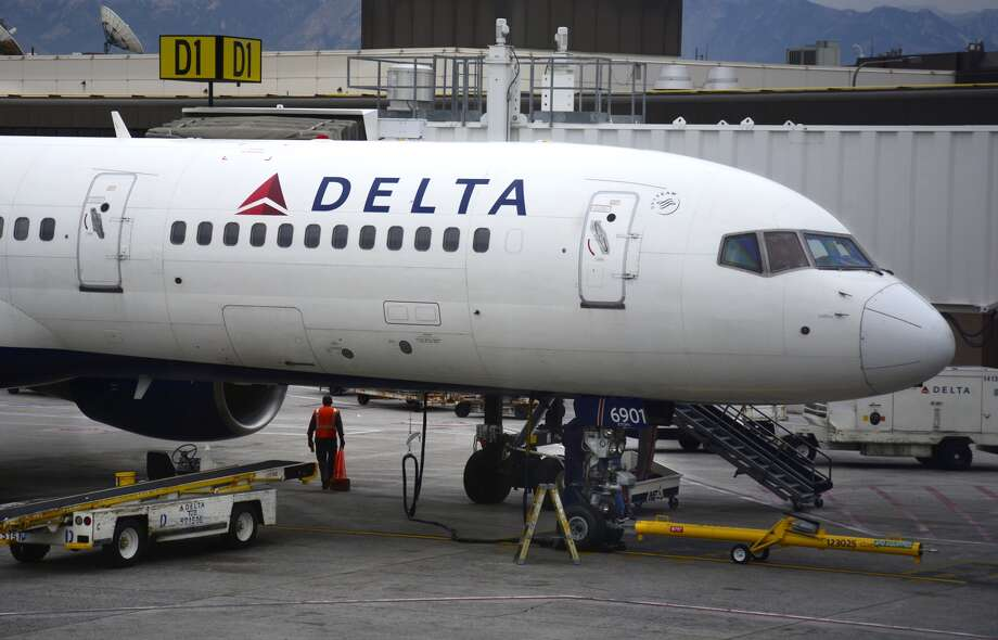 A Delta Airlines Airbus A320 passenger aircraft is serviced at the gate at Salt Lake City International Airport in Salt Lake City, Utah. (Photo by Robert Alexander/Getty Images)