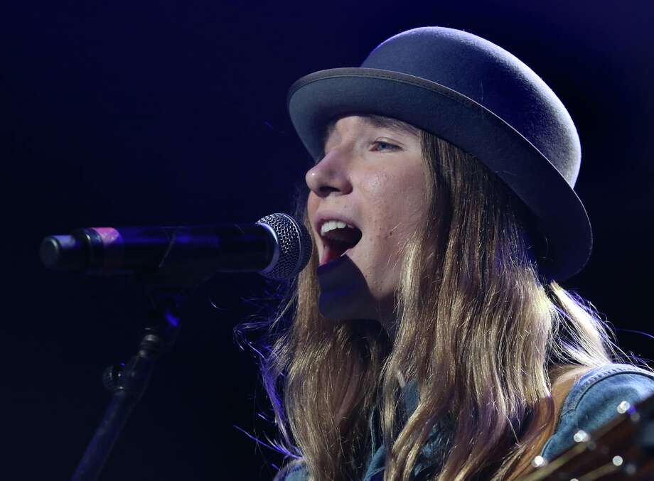 Sawyer Fredericks performs Saturday, June 6, 2015 at Saratoga Performing Arts Center. The sixteen year old from Fultonville, who recently beat the competition on NBC's The Voice, was the final performer at the FLY 92.3 Summer Jam. (Ed Burke / Special to the Times Union) Photo: Ed Burke / © Ed Burke