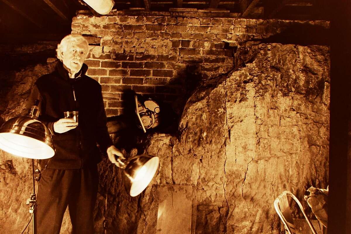 David Ireland in the basement of 500 Capp Street, 1988. Photo: Christine Labb / Courtesy 500 Capp Street Foundation