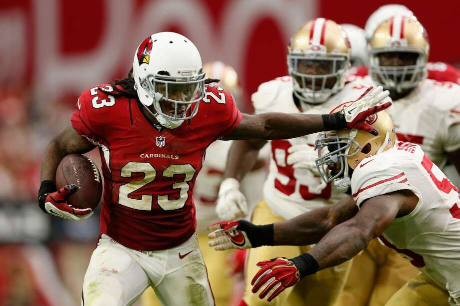 Arizona CardinalsChris Johnson's return to relevancy at age 30 as one of the better running backs in the NFL after being cut by the New York Jets and suffering a gunshot wound to the shoulder in a drive-by shooting. Photo: Christian Petersen, Getty Images