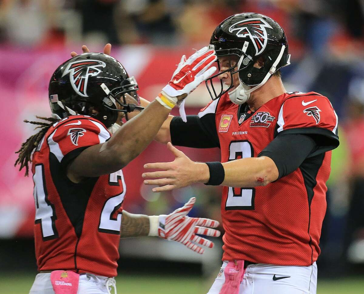 Atlanta Falcons The emergence of running back Devonta Freeman as one of the top all-purpose running backs in the league was a bit of a surprise, but the slump of quarterback Matt Ryan was even more of a shocker.
