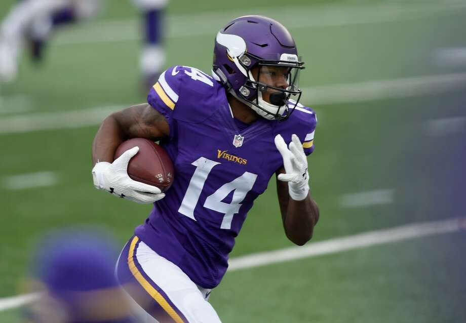 Stefon Diggs is one of the Vikings' top offensive players. The former University of Maryland standout leads the Vikings with 25 catches for 372 yards and one touchdown. Photo: Hannah Foslien, Getty Images