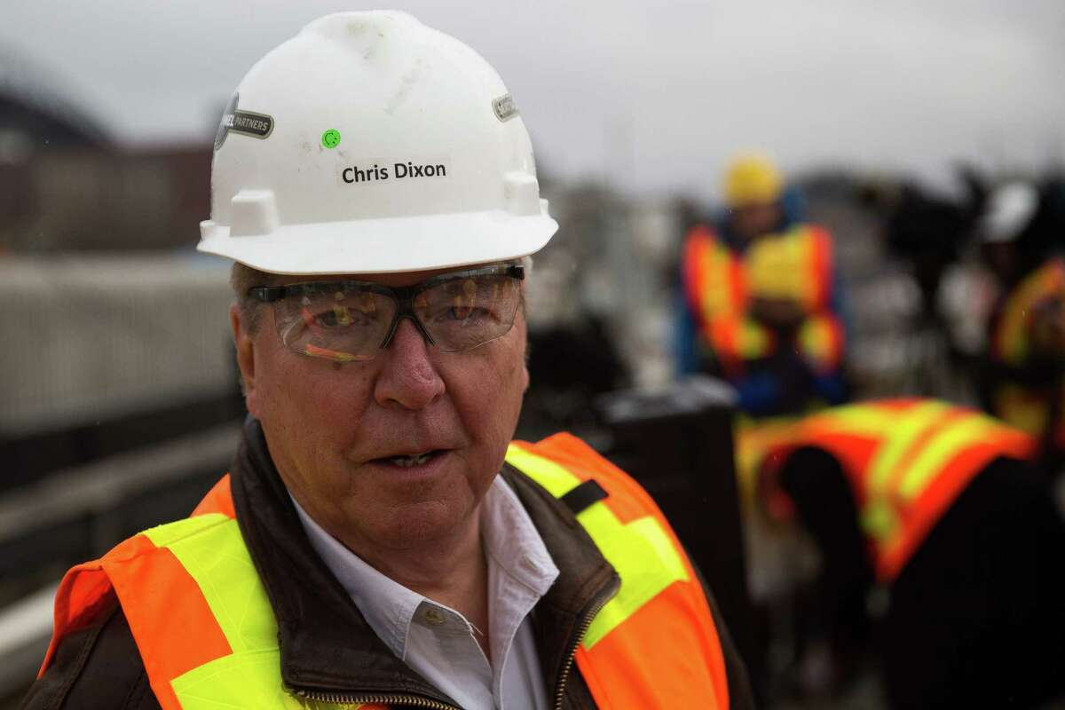 Seattle Tunnel Partners Project Manager Chris Dixon meets with reporters during a press update event on Bertha, the Highway 99 tunnel boring machine, on Wednesday, Dec. 23, 2015.