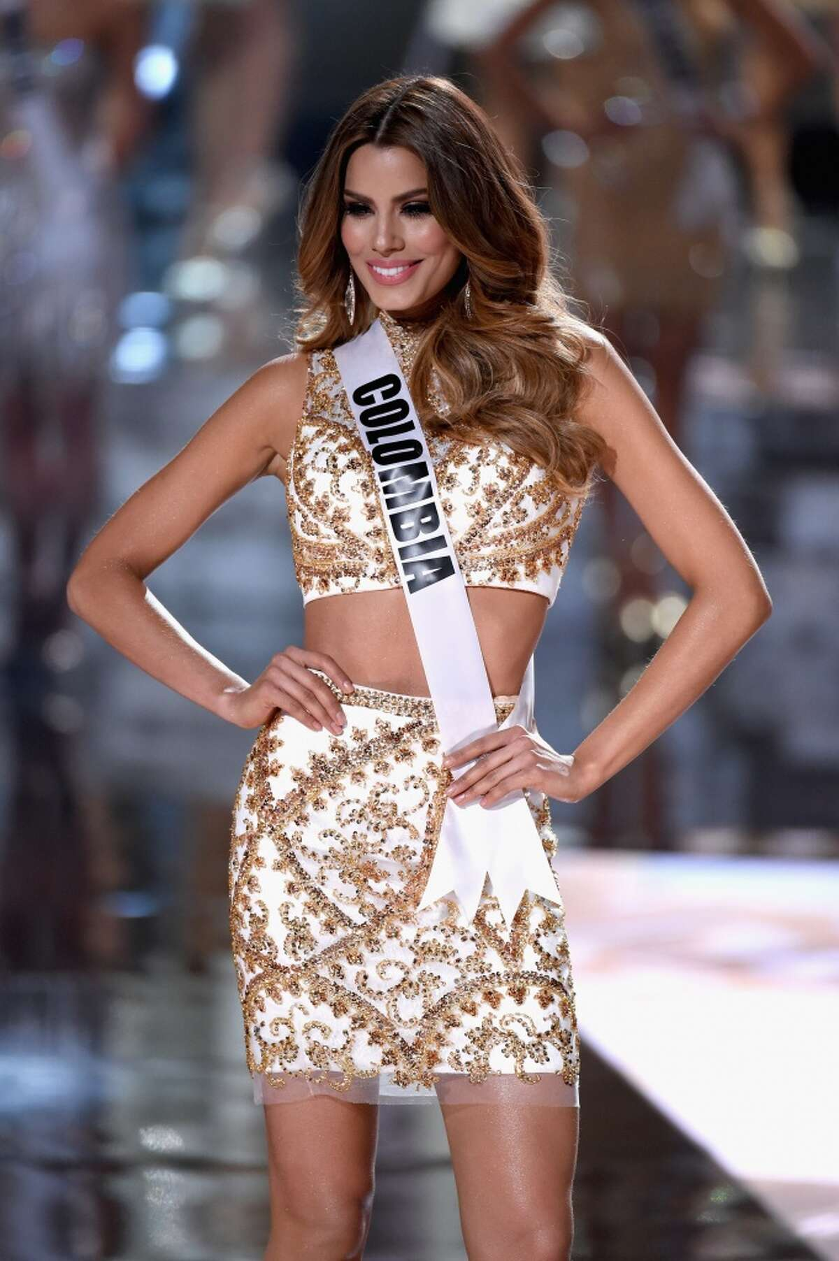Miss Colombia 2015, Ariadna Gutierrez, during the 2015 Miss Universe Pageant.