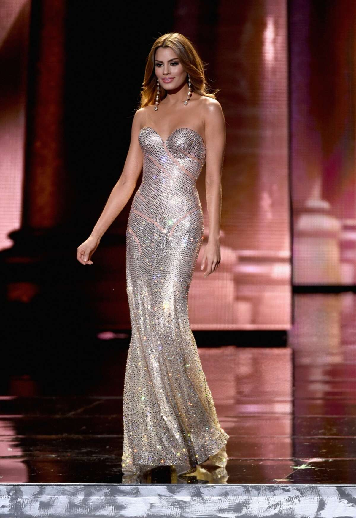 Miss Colombia 2015, Ariadna Gutierrez, competes in the evening gown competition during the 2015 Miss Universe Pageant at The Axis at Planet Hollywood Resort & Casino on December 20, 2015 in Las Vegas, Nevada.
