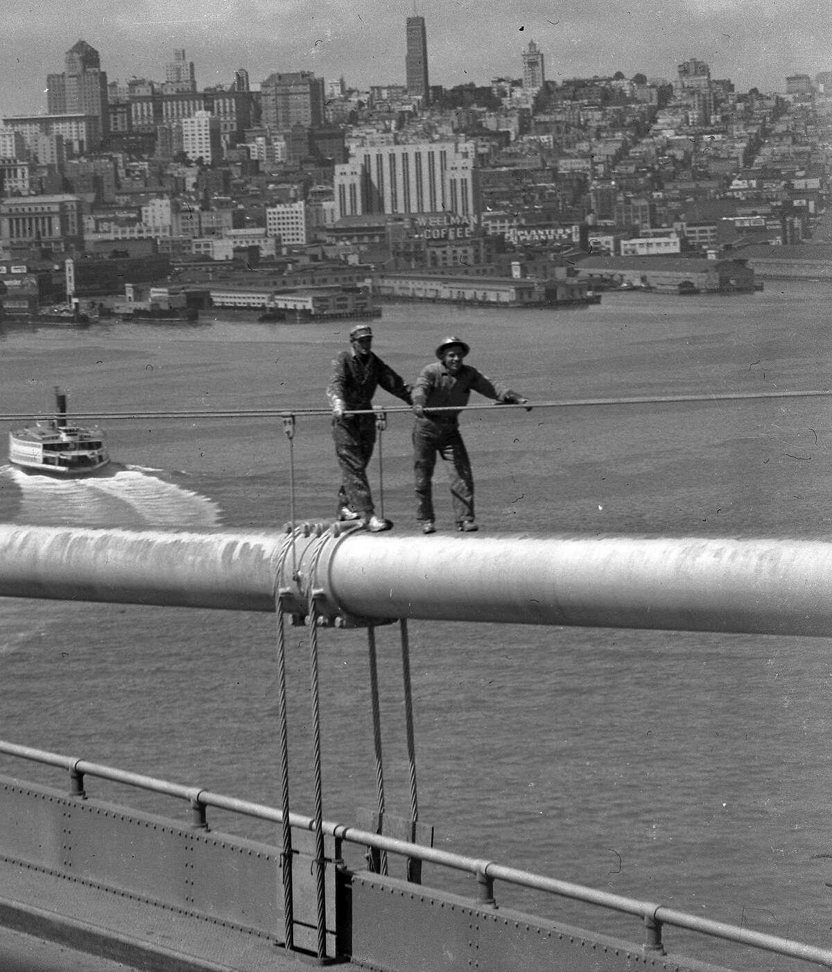 Painting the Bay Bridge August 1948