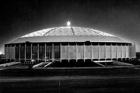 1964: There's no caption information with this photo, other than the fact that it was taken sometime in December of that year. By this time the Astrodome was just nearing completion and would open a few months later. Merry Christmas, everyone!