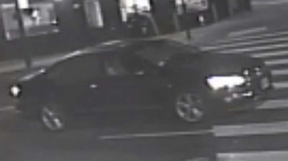 San Francisco police are looking for the driver of the above car that struck and killed a pedestrian Friday night. Photo: Courtesy Of SFPD