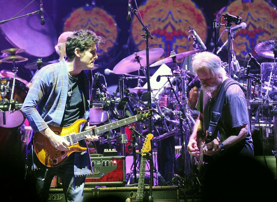 John Mayer ,left, and, Bob Weir, perform with Dead & Company at Times Union Center in Albany, N.Y.,Thursday, Sept. 29, 2015. The band performs this Sunday and Monday at Bill Graham Civic Auditorium in San Francisco. Photo: Hans Pennink, Times Union