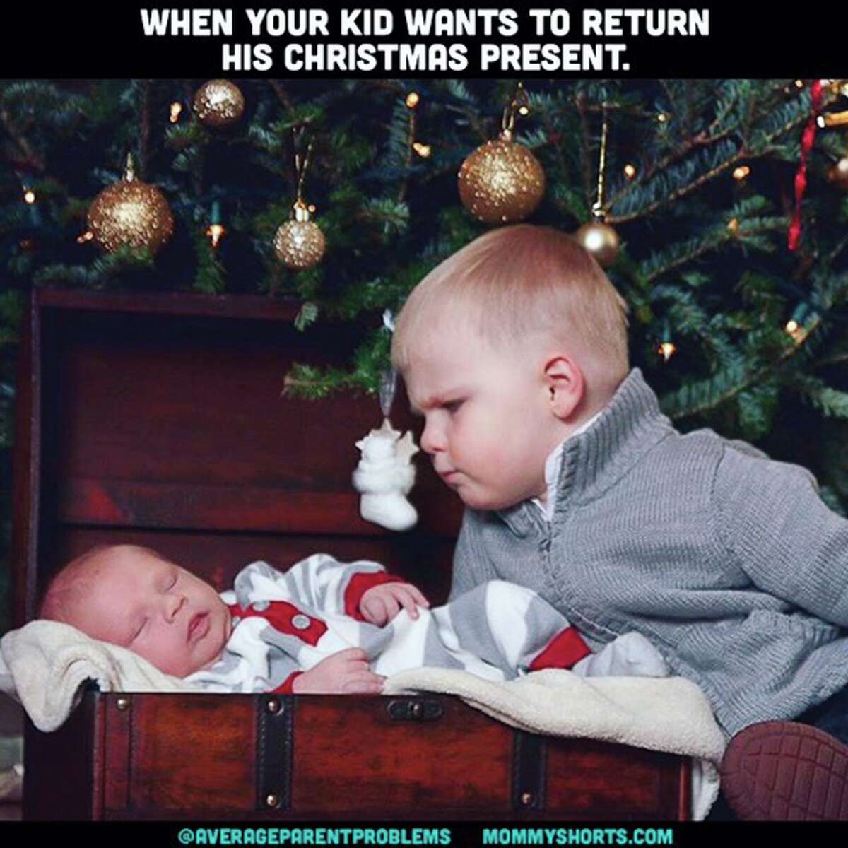 Find more examples of the kids messing up Christmas at the Average Parent Problems Instagram page.
