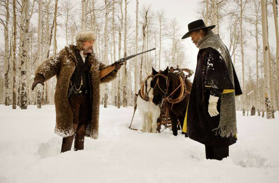 """Kurt Russell and Samuel L. Jackson in """"The Hateful Eight."""" Photo: Andrew Cooper / © 2015 The Weinstein Company. All Rights Reserved."""