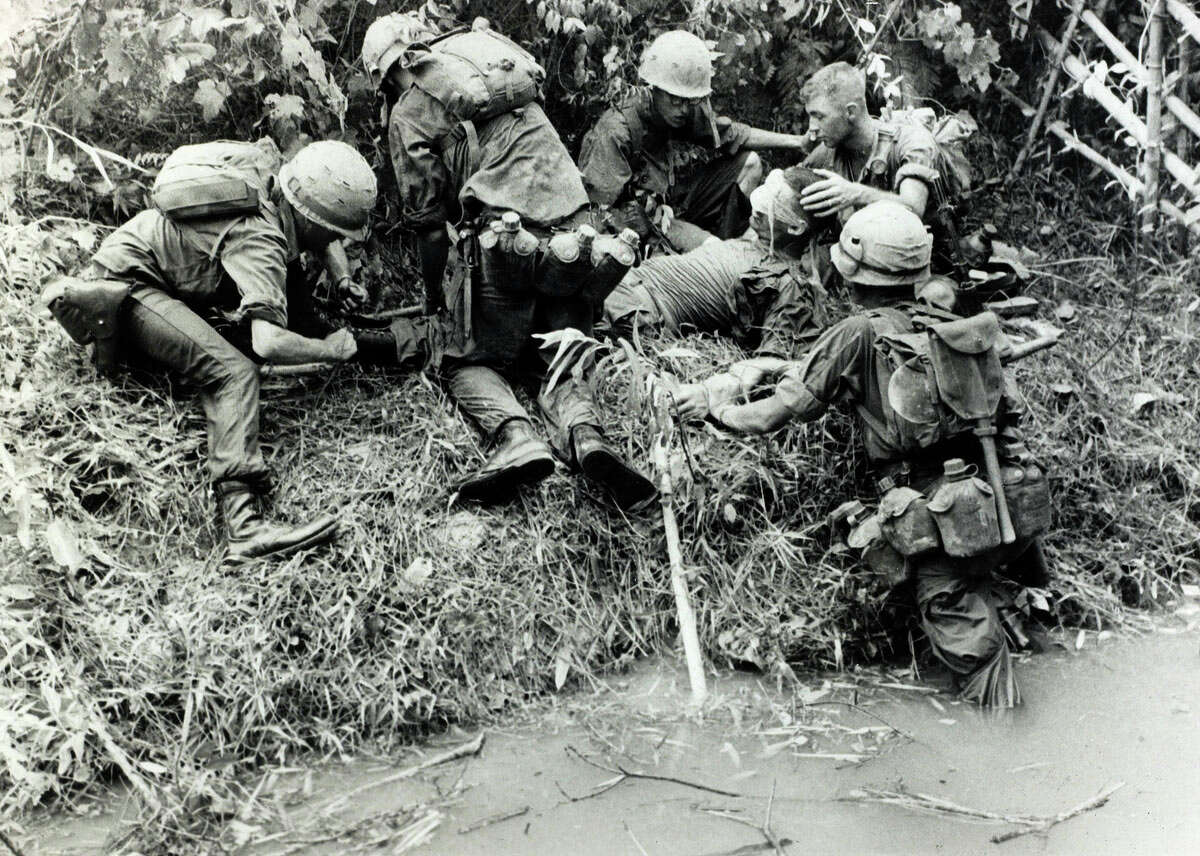 U.S. deaths in the war more than tripled from 1965 to 1966.After sending a modest amount of ground troops to Vietnam in 1966, President Lyndon B. Johnson quickly escalated ground action in December of that year and then multiple times again in 1966. That summer, the U.S. bombed the North Vietnamese capital of Hanoi for the first time, along with Haiphong, another major urban center.