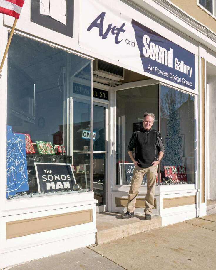 The works of local Greenwich Artist Thomas Misisco will be featured at the grand opening reception at Art and Sound, a new gallery that mixes art with audio and visual products, planned for 6 to 9 p.m. Jan. 8 at the gallery, 101 Mill St. The store, created by audio/video systems designer Art Powers Jr., was opened earlier this month. Photo: Contributed / Contributed Photo / Greenwich Time Contributed