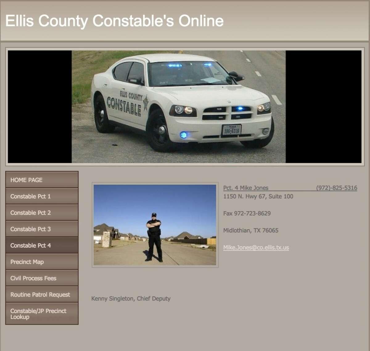 Mike Jones, the Ellis County Constable for Precinct 4 is running for re-election. Source: elliscountyconstable.com