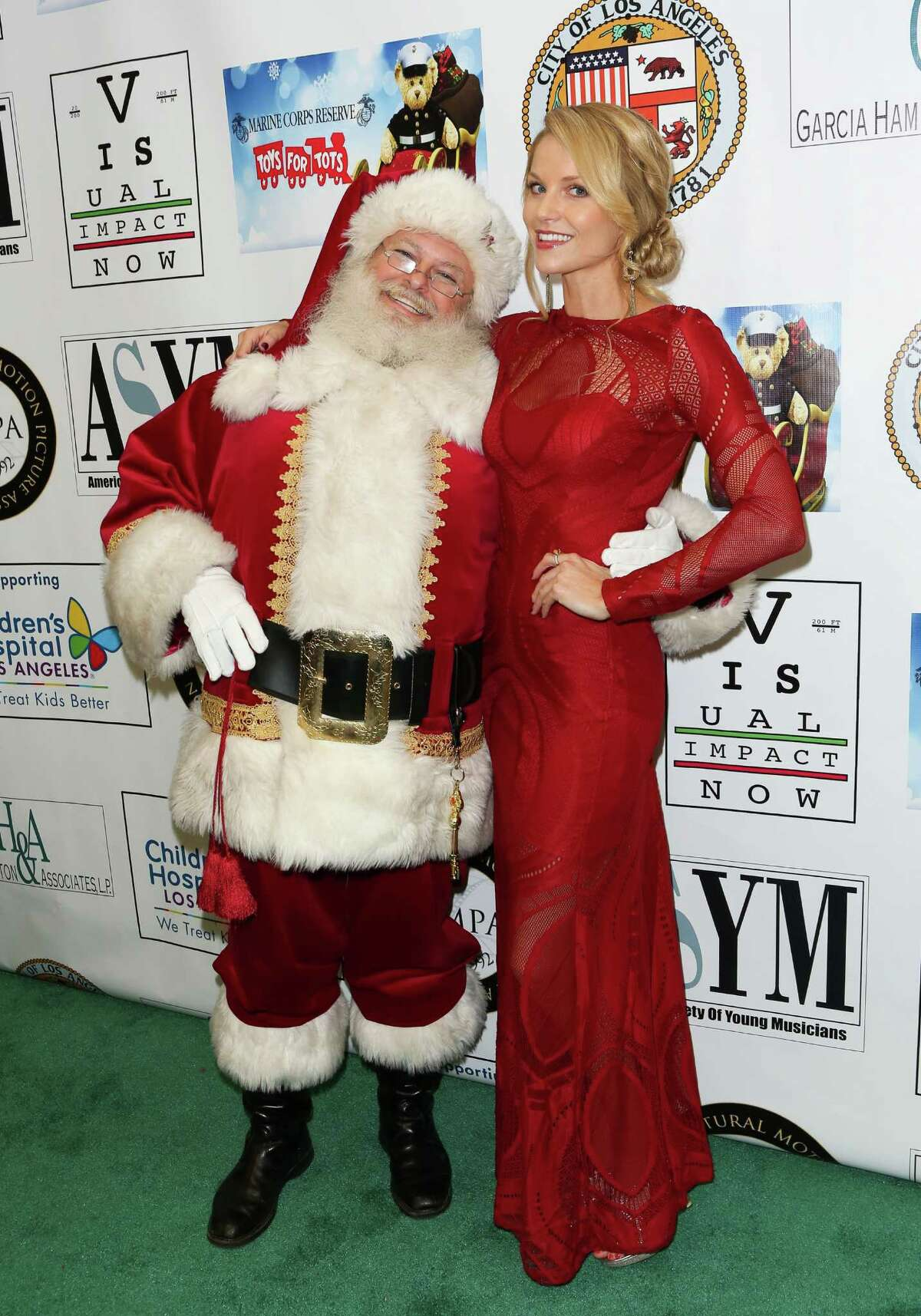 Actress Ellen Hollman attends the 16th annual Hollywood Celebrity Toy Drive Extravaganza on Dec. 17, 2015 in Los Angeles.