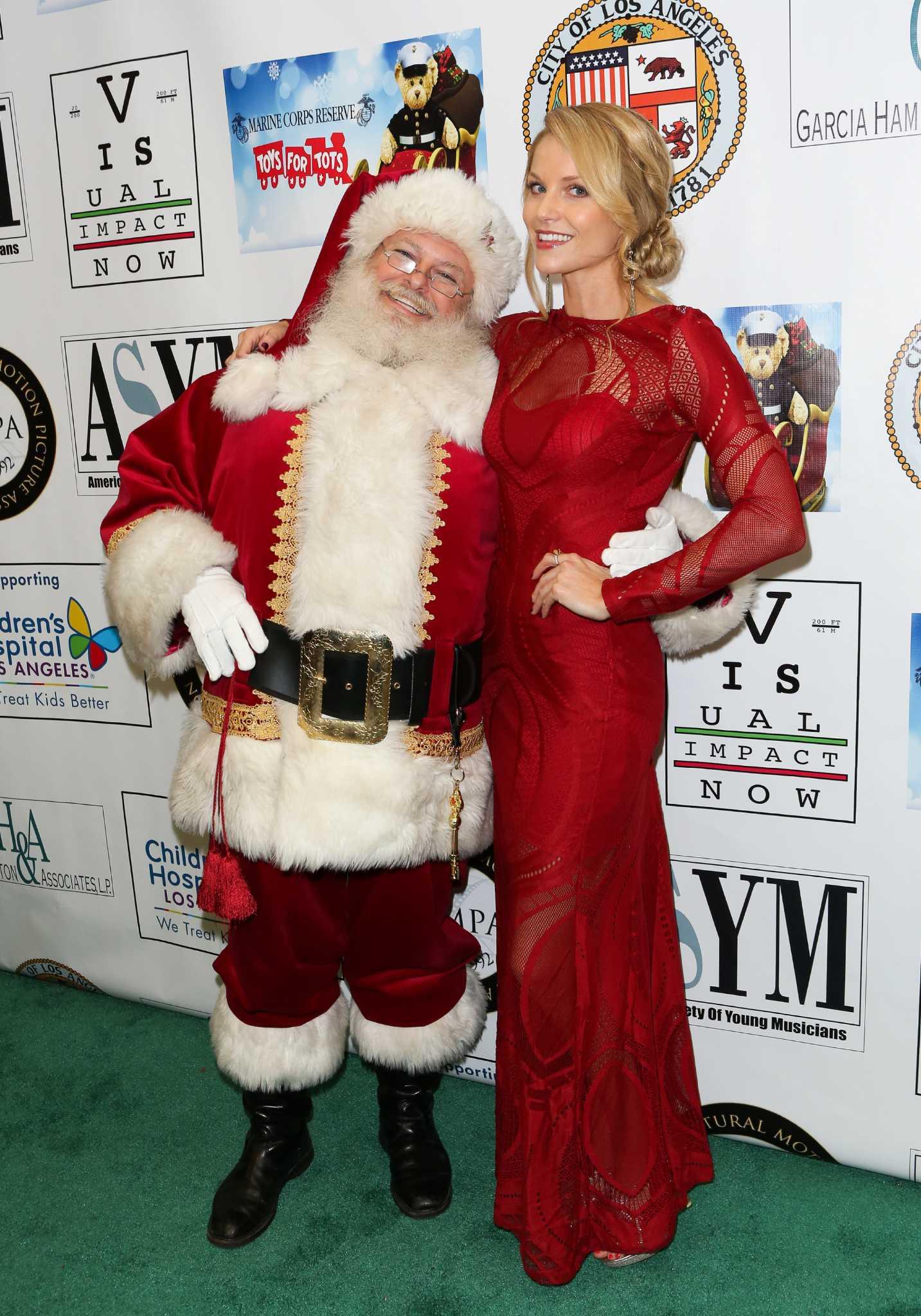 Celebrities Meeting Santa Claus San Antonio Express News