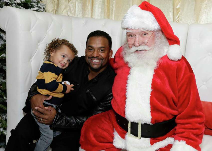 Alfonso Ribeiro Jr and dad, actor Alfonso Ribeiro attend 2015 Santa's Secret Workshop Benefiting L.A. Family Housing at Andaz Hotel on Dec. 5, 2015 in Los Angeles.