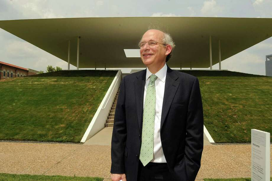 "Rice University President David Leebron at ""Twilight Epiphany,"" the James Turrell Skyspace on campus. Photo: Dave Rossman, Freelance / © 2014 Dave Rossman"