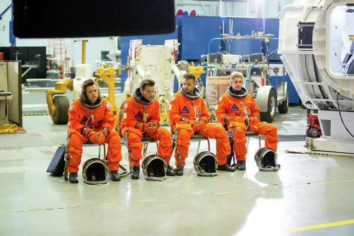"""One Direction filmed the video for """"Drag Me Down"""" at NASA's Johnson Space Center."""