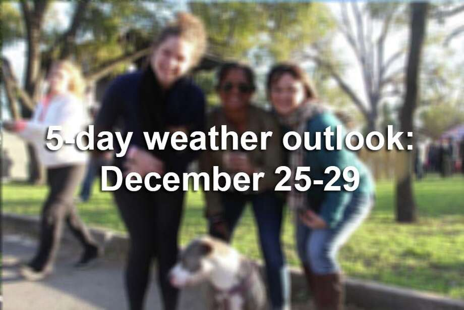 This is what the next few days look like for San Antonio, according to the National Weather Service. Photo: San Antonio Express-News