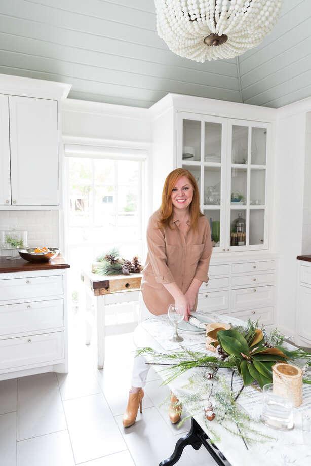 Frost & Ember tabletop linens were created by Laura Umansky of Houston's Laura U Interior Design. Photo: Julie Soefer / Julie Soefer Photography