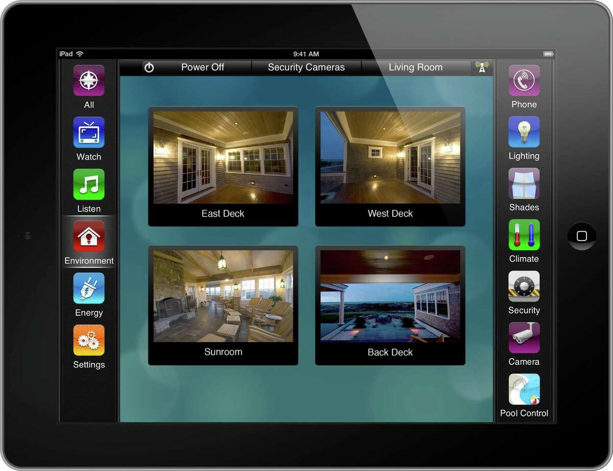 An image of the Savant home automation system on the iPad, courtesy SmartHome Technologies.