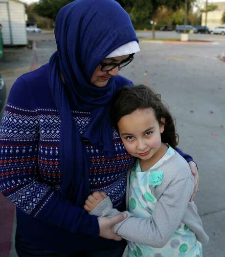 Melissa Yassini says her daughter Sofia, 8, was afraid her family would be forced to leave the U.S. after hearing of Donald Trump's call to ban Muslim immigrants. Photo: LM Otero, STF / AP