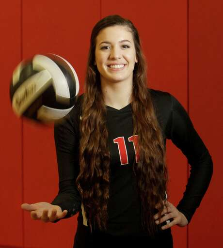 Senior Paige Swinney, an outsider hitter and middle blocker at Fort Bend Austin, has enjoyed a big varsity presence since her freshman year. But she saved the best for last by leading the Bulldogs to state this season. Photo: Melissa Phillip, Staff / © 2015 Houston Chronicle