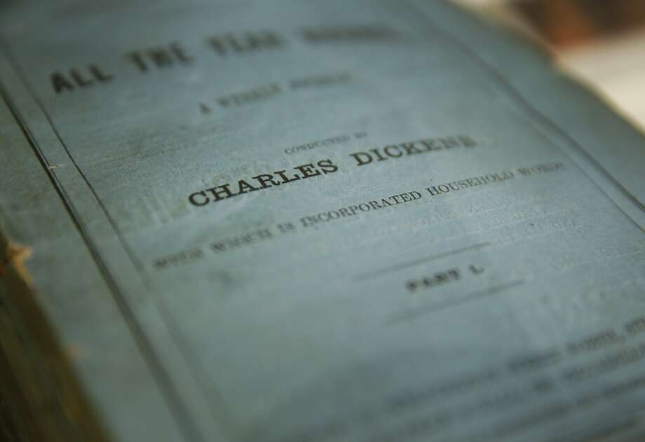 Journals that may be some of the first to publish Charles Dickens sit on a counter at the Brick Row Book Shop Dec. 24, 2015 in San Francisco, Calif. Photo: Leah Millis, San Francisco Chronicle