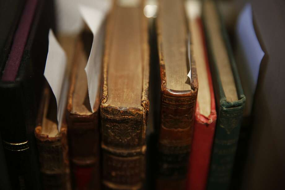 Recently catalogued books wait to be photographed and uploaded to the website at the Brick Row Book Shop Dec. 24, 2015 in San Francisco, Calif. Photo: Leah Millis, San Francisco Chronicle